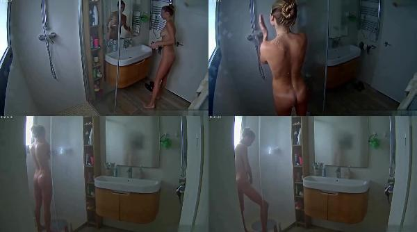 164998500 0734 spy nice body blonde girl taking a shower and shaving pussy - Nice Body Blonde Girl Taking A Shower And Shaving Pussy / SpyCam Sex Video