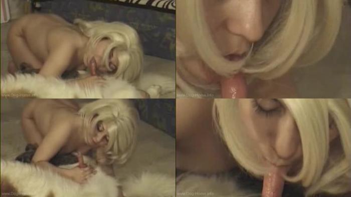 166980463 0588 dgsx blonde suck dog cock - Blonde Suck Dog Cock / DogSex Video