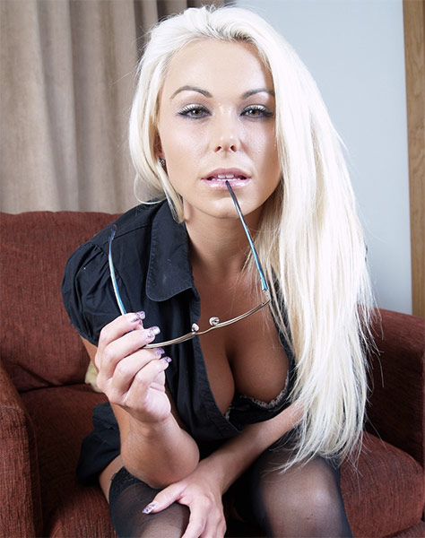 NylonCumSluts/Killergram: Caprice Jane - Blonde Nylon Seduction (2020) 360p WebRip